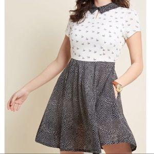 ModCloth Sawn Affection Louche Dress